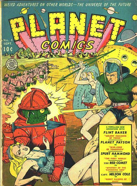 by dave stevens golden age comic book stories planet comics 8 fiction house comic book plus