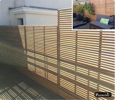 changer plan de travail 4138 pare vue en bois pare vue en bois muret photo de ambiance