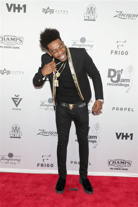 Jam Guci Unisex Leather spotted desiigner in balmain and gucci at the def jam pause s fashion