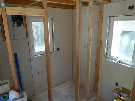 drywall for bathroom shower tiny house finish drywall photos bathroom and shower 01