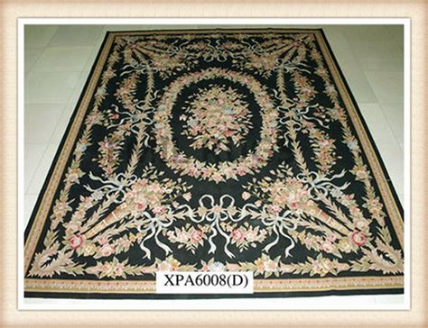 beige rug with black border handmade 4 x 6 black field beige border flat weave aubusson rug gc8aub26