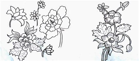 gambar doodle bunga sketsa gambar motif batik sederhana