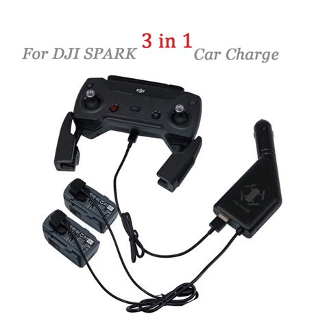 Promo Dji Spark Remote Controller 1 dji spark drone 3 in 1 car charger battery charging usb port remote 2 cable battery