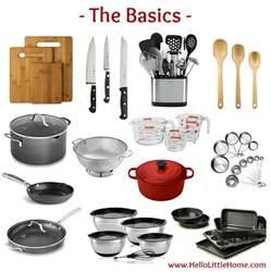 Kitchen Essentials List by Kitchen Essentials List For Home Cooks Hello Little Home