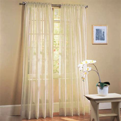 drape net door window curtain drape panel net slot top sheer voile