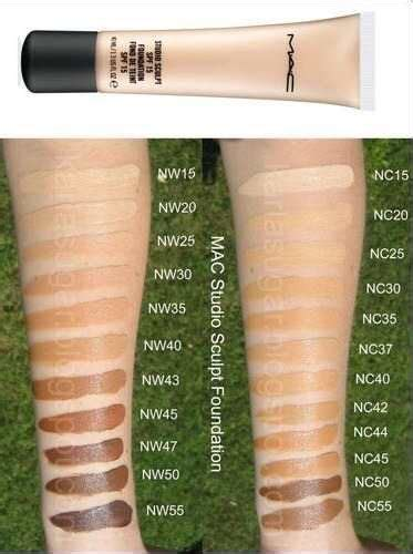 mac foundation color guide makeup