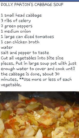 Cabbage And Lentil Detox Soup by Best 25 Dolly Parton Diet Ideas On Pressure