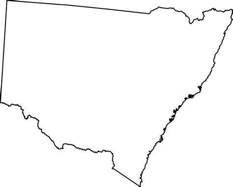 Blank Outline Map South Australia by Australian Maps Clip At Clker Vector Clip Royalty Free Domain
