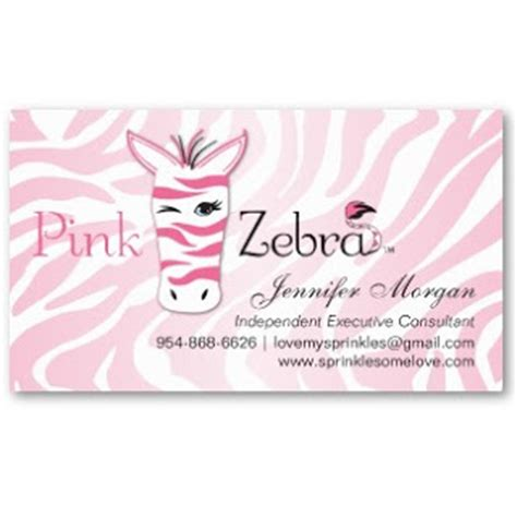 Business Card Showcase By Socialite Designs Pink Zebra Business Cards Pink Zebra Business Card Template Free
