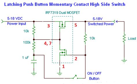 toggle on switch circuit diagram circuit and