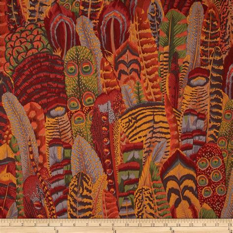kaffe fassett home decor fabric kaffe fassett collective feathers brown discount