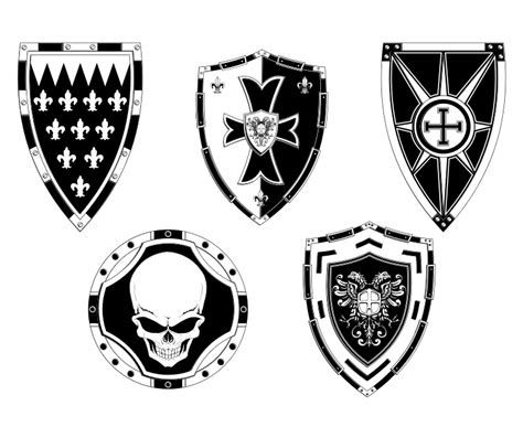 Detailed Free Search Detailed Free Vector Shields By Art On Deviantart