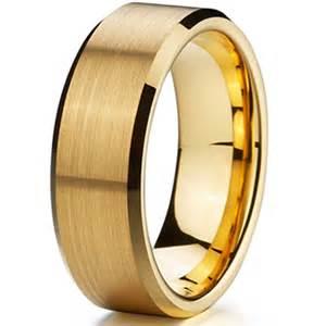 cheap mens wedding ring cheap classic gold ion plating tungsten mens wedding ring