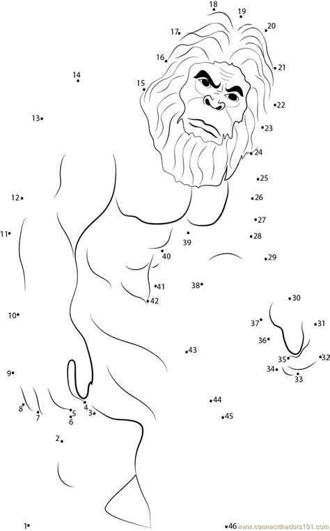 Connect The Dots Sasquatch Mythical Creatures Gt Bigfoot Bigfoot Coloring Pages