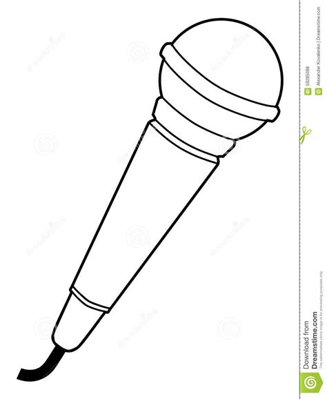 microphone template microphone sketches sketch coloring page