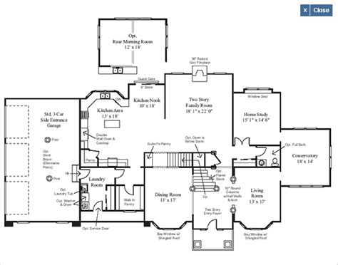 homes floor plans with pictures elevation a 1st floor