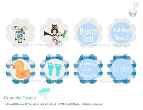 Cupcake Toppers For Baby Boy Shower by Baby Boy Shower Cupcake Toppers Www Imgkid The