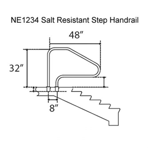 In Ground Pool Ladders And Handrails pool ladders salt resistant in ground swimming pool in ground step handrail white pricefalls