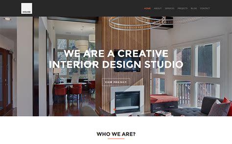 design house company profile house interior design template wrapbootstrap