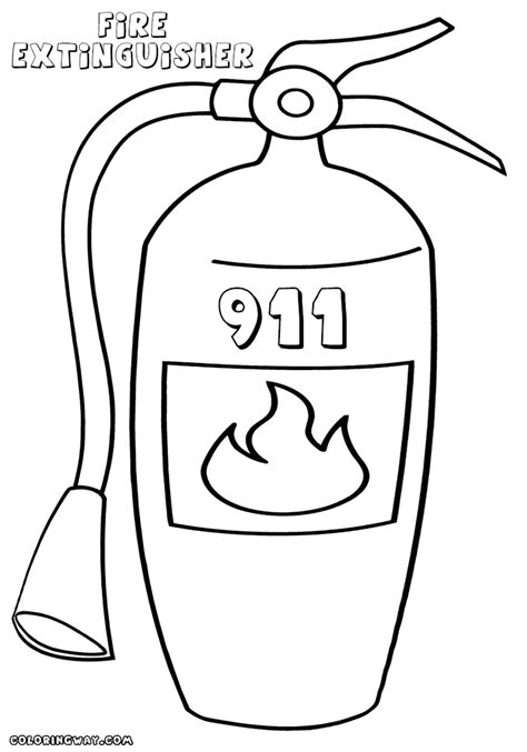 Extinguisher Coloring Page extinguisher coloring pages coloring pages to