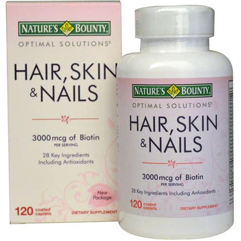 nature s bounty hair skin nails 3000 mcg 120 coated