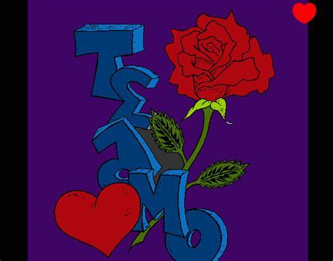 imagenes te amo rosa te amo con rosas dibujos imagui