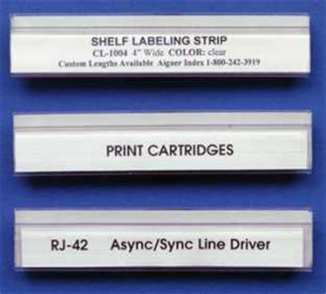 Aigner Scoppy 2026 A aigner shelf labeling strips