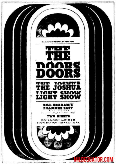 Out The Door Fillmore by The Doors New York Fillmore East 1968 1