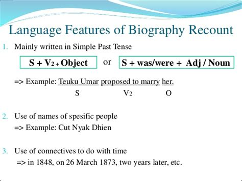 biography text generic structure recount text