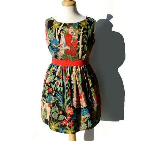 Is Vintage Fashion Really Dead by Mexican Frida Kahlo Vintage Inspired Dress Day Dead Dress
