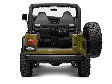 smittybilt gear seat covers tj smittybilt g e a r rear wrangler seat cover black