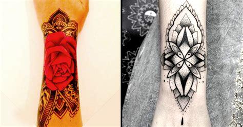 paisley wrist tattoo style to paisley and mehndi wrist cuff