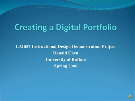 Electronic Career Portfolio Ppt create a digital portfolio powerpoint