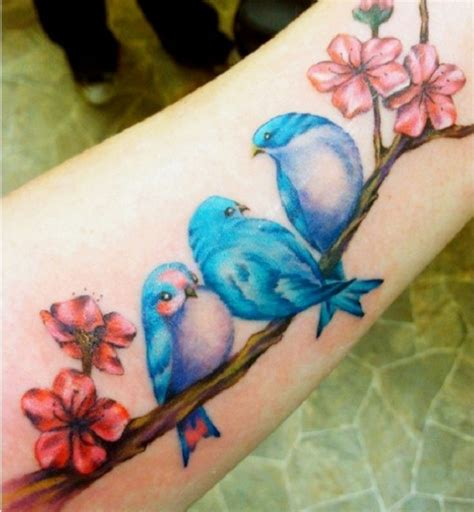 small blue bird tattoo 3 blue birds 3 blue birds just like the