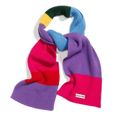 colourblock scarf brights