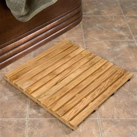 Teak Shower Mat by 24 Quot Square Teak Shower Mat Wood Bath Mats Bathroom