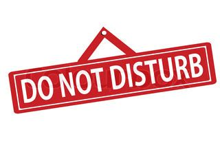 rubber stamp with text do not disturb inside, vector