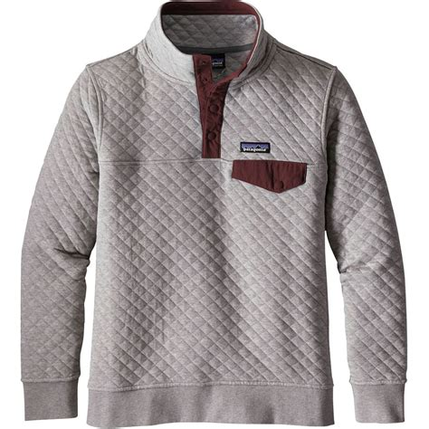 sweatshirt comforter patagonia organic cotton quilt snap t pullover sweatshirt