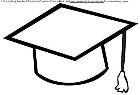 Graduation Cap Coloring Page www preschoolcoloringbook graduation coloring page