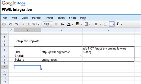 google spreadsheets forms tutorial using the piwik api and google spreadsheet to generate