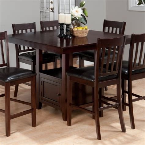 dining table counter height storage dining table