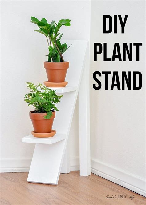 diy tiered plant stand  scrap wood woodworking