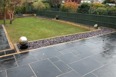 Black Railway Sleepers by Sheffield Builder Landscaper Gallery Images Of Houses And Gardens