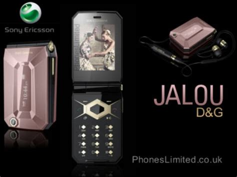 sony ericsson releases a dolce & gabbana jalou mobile