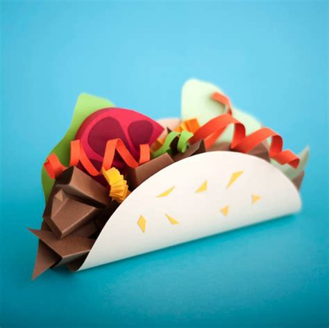 food craft for paper craft sculptures of food fubiz media