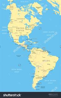 and south america map america map