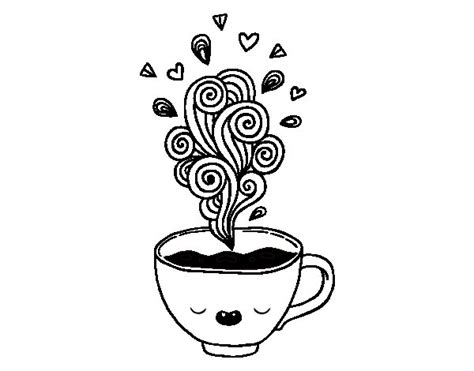 imagenes kawaii para pintar taza de cafe para colorear imagui
