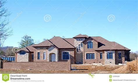 free home builder luxury home under construction 5 royalty free stock images