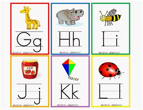 printable alphabet cards with pictures 8 best images of printable kindergarten flash cards free