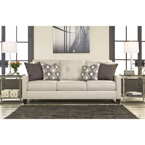 benchcraft sofa benchcraft guillerno contemporary sofa with coil seat